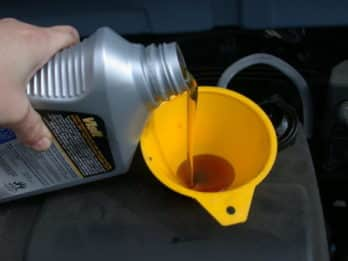 overfilling engine oil