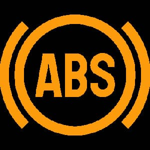 ABS brake warning sign