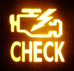 flashing check engine light