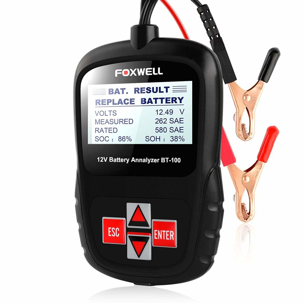 Test Battery Condition /& Charging CARTMAN 12V Car Battery /& Alternator Tester