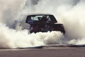 car smells like burning rubber