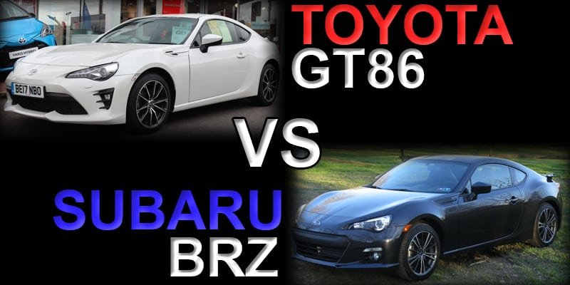 Subaru Brz Vs Toyota 86 >> Toyota Gt86 Vs Subaru Brz Differences Information