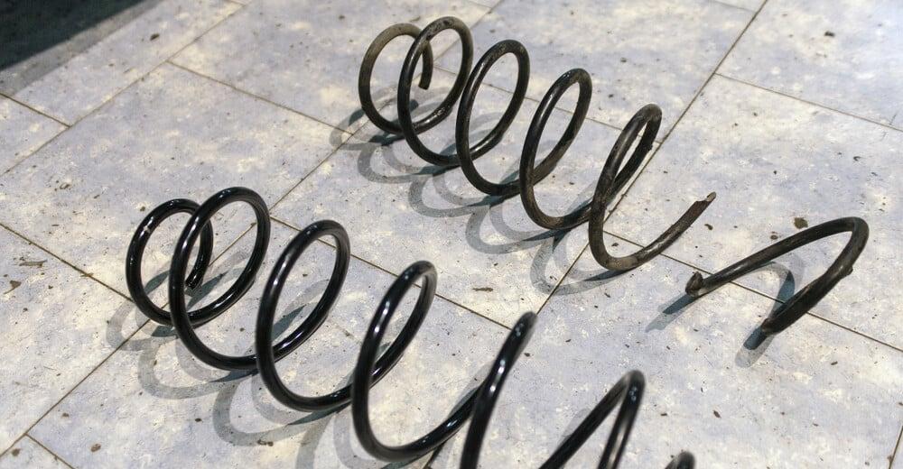 broken coil spring