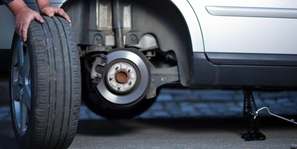 change car wheel