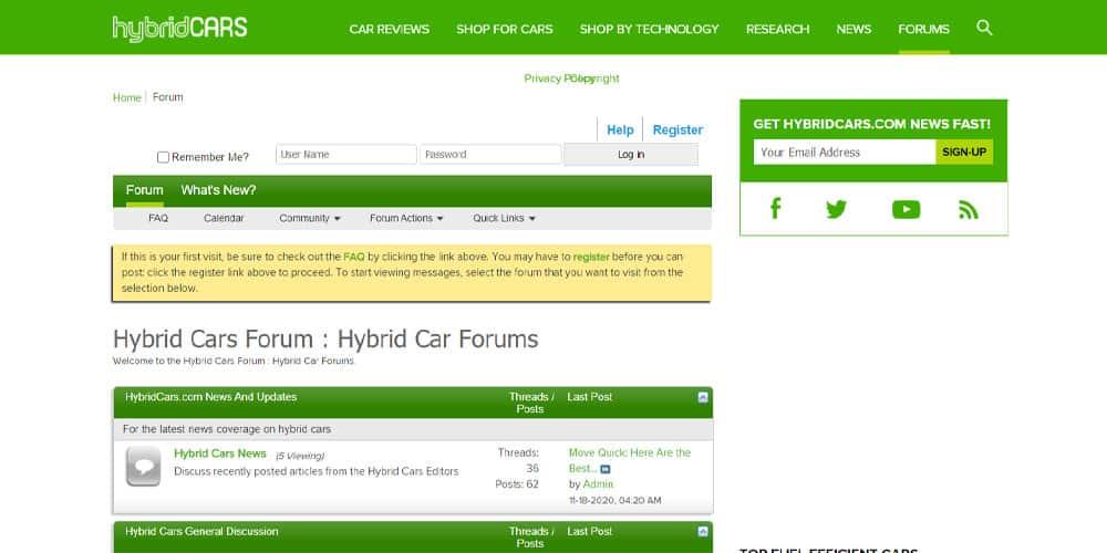 Hybrid Cars Forum