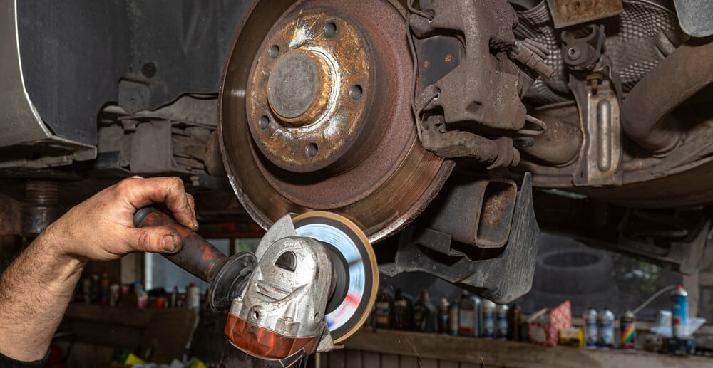 Removing Edge From Brake Rotor