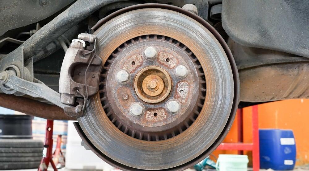 Rusty Worn Brake Rotor