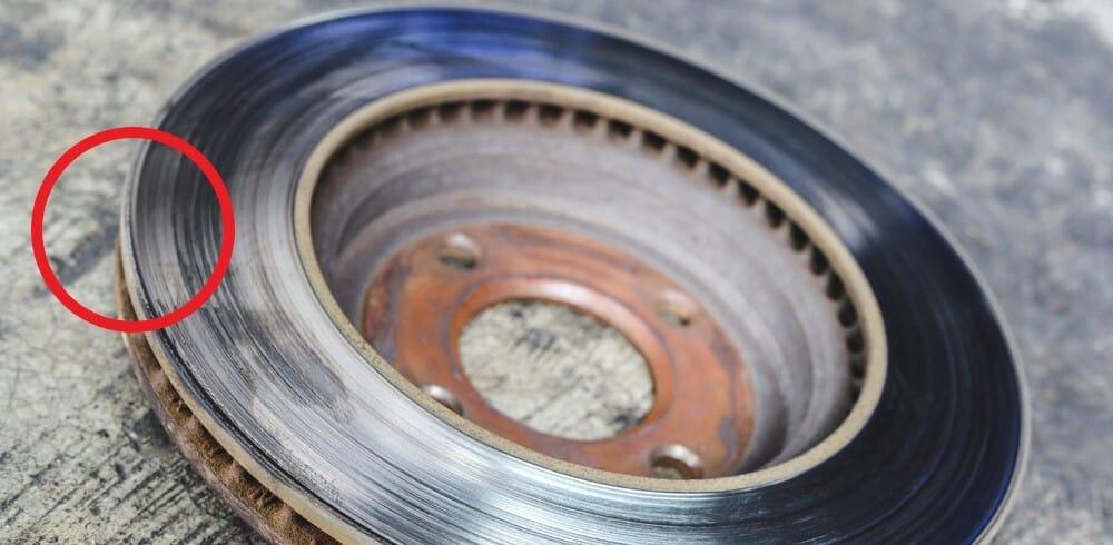 Worn Brake Disc Edge
