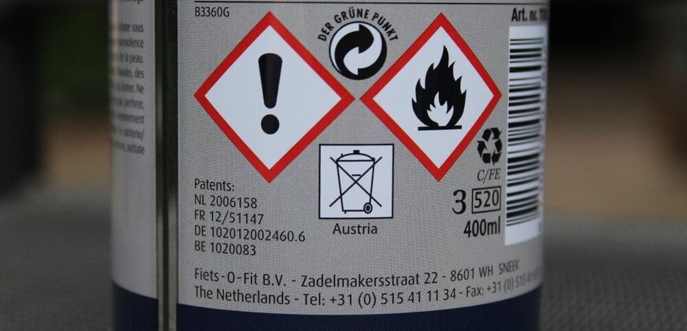 flammable spray