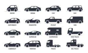 different vehicle types