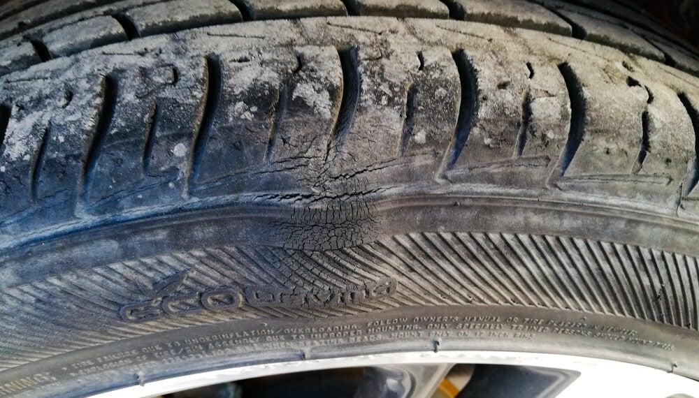 Sidewall Tire Bulge