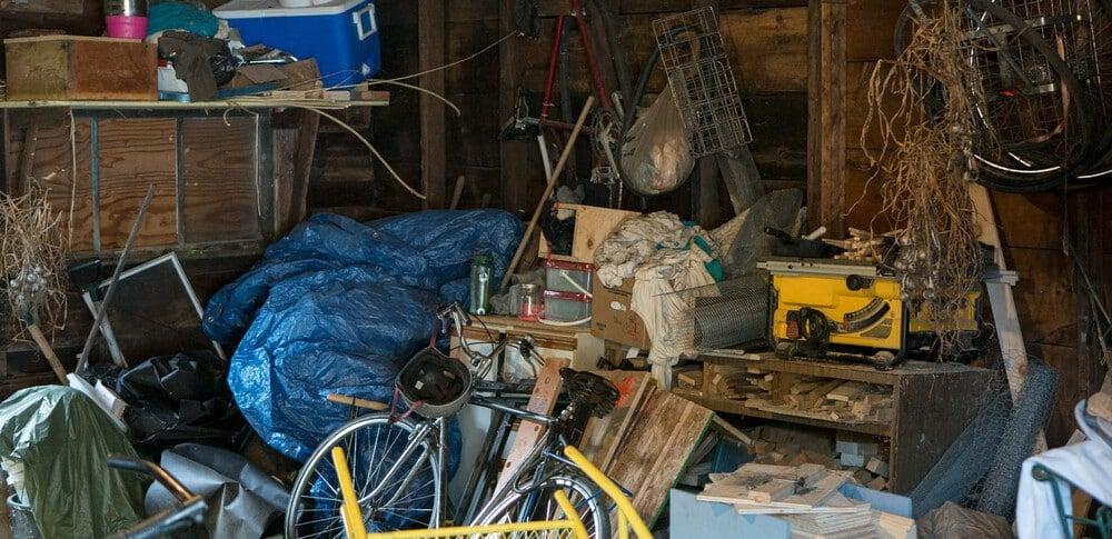 Trash In Garage