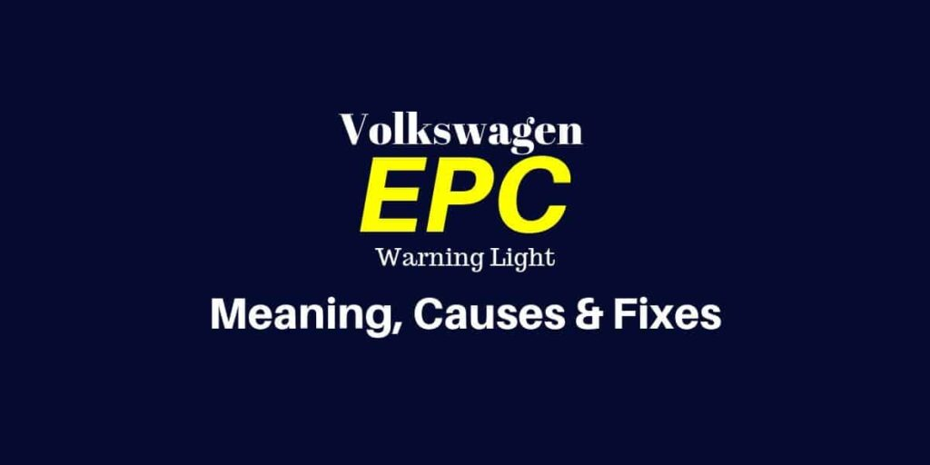 Epc Light Volkswagen >> How To Fix The Epc Light On A Volkswagen Mechanic Base