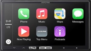 alphine double din head unit