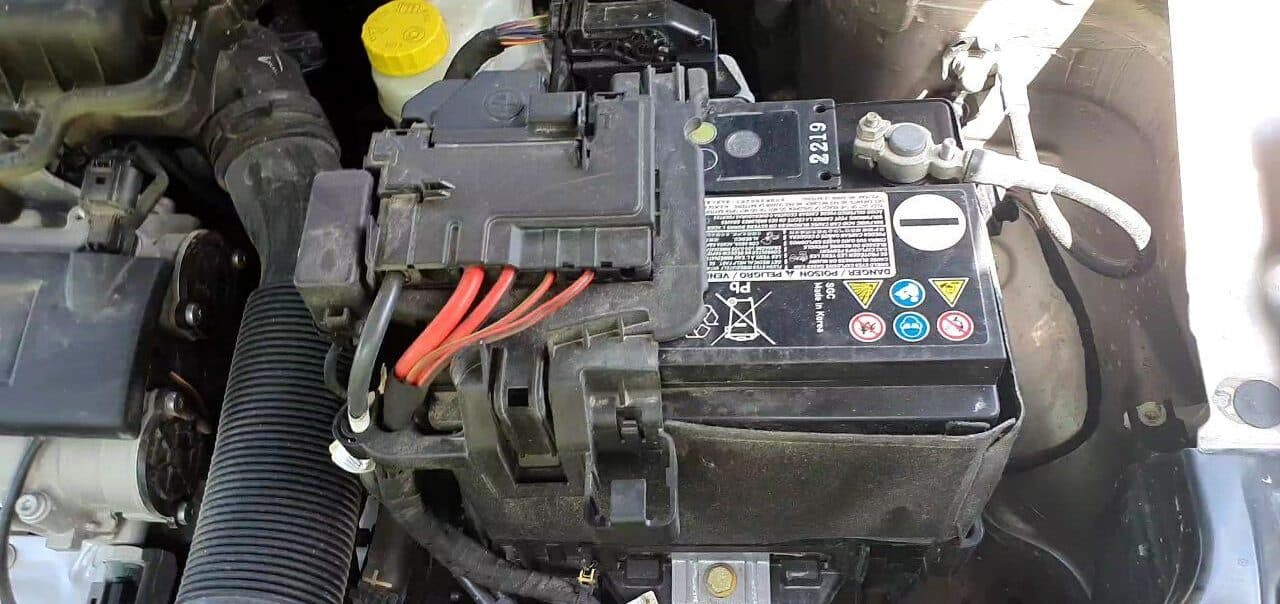 Car Battery Rotated