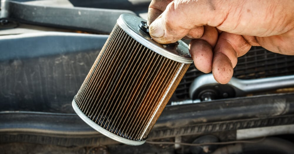 dirty fuel filter