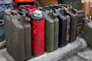 dispose old gasoline