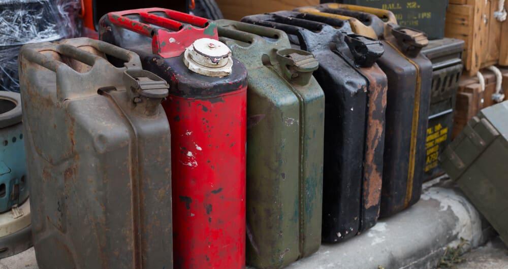 gasoline disposal