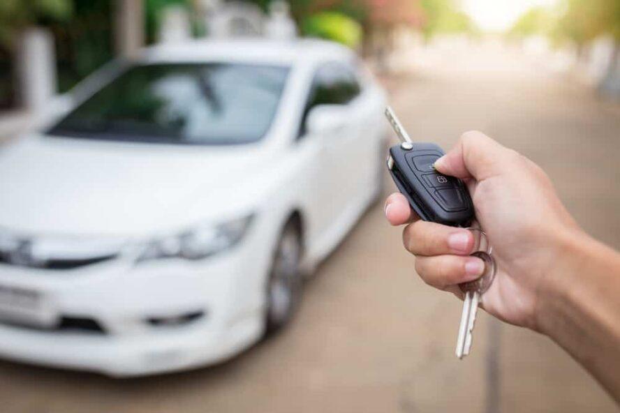 open car key fob