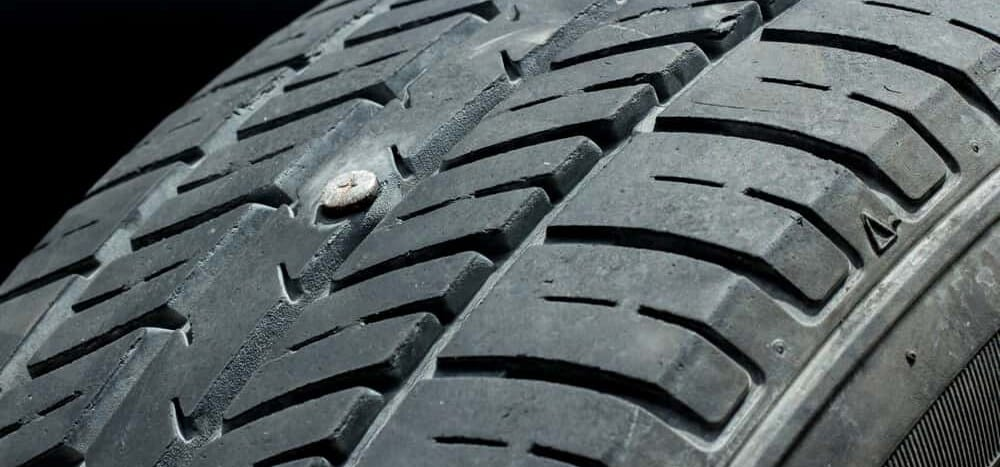 Safe Drive With Nail In Tire