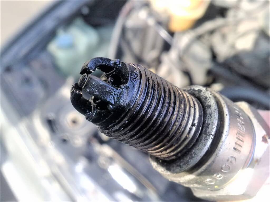 Oil On Spark Plug Tip