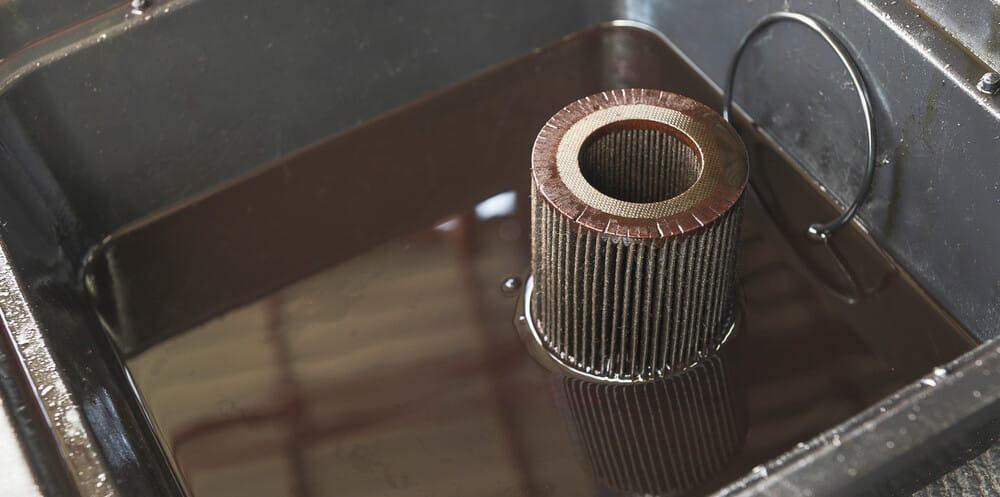 Motor Oil In Bucket