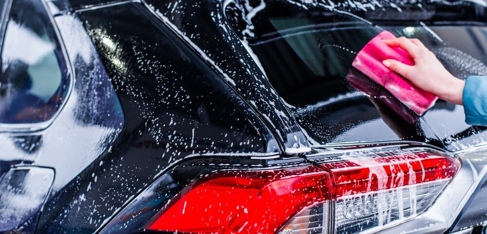 clean car exterior